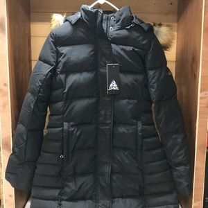 Jackets & Blazers - Spire by Galaxy Black Puffer Coat with Hood. Sm